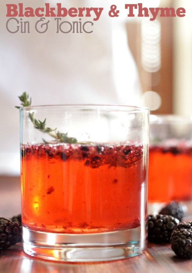 Blackberry and Thyme Gin & Tonic - Tales of a Ranting Ginger