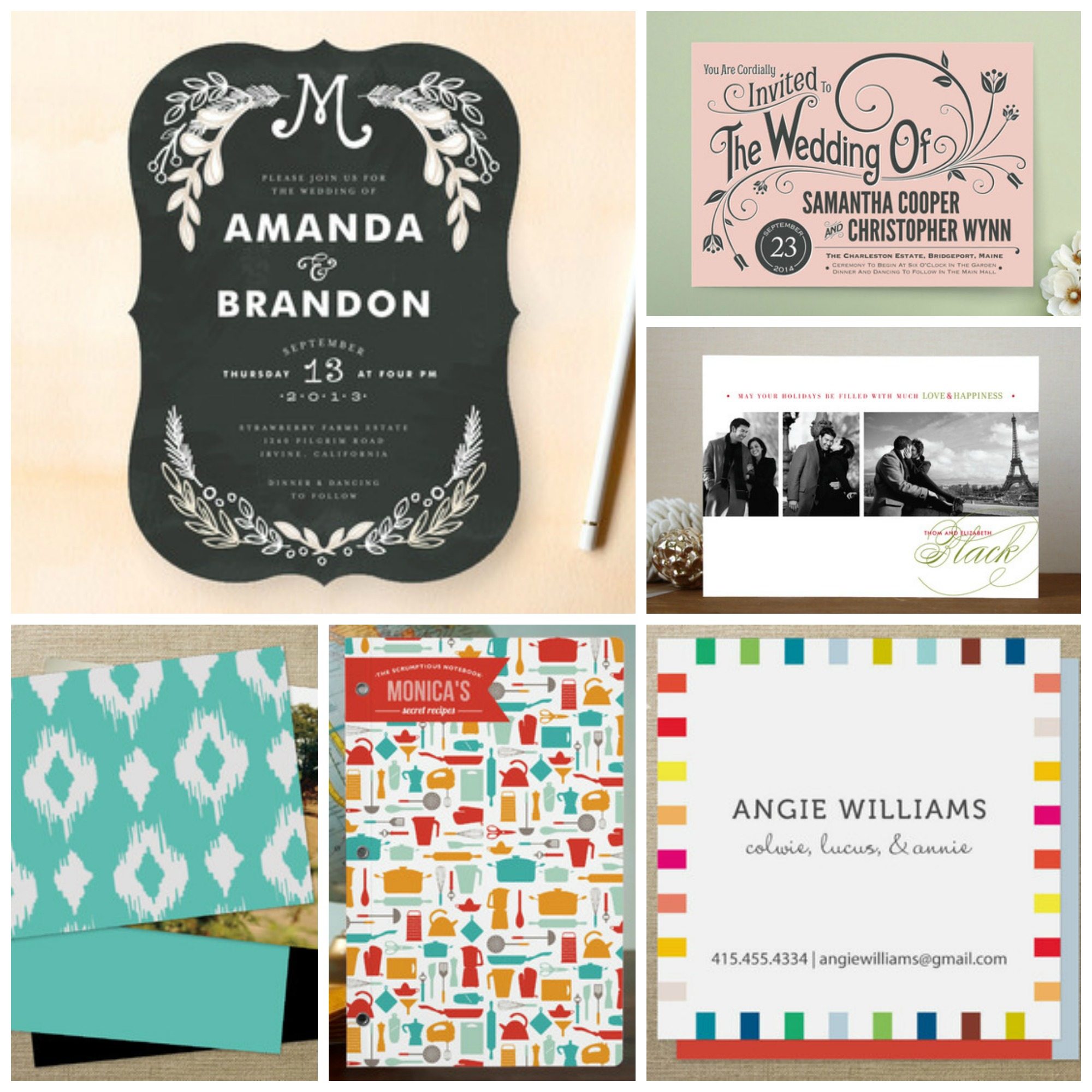 In designed products are now at Minted Business Cards